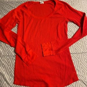 victoria's secret pink thermal shirt